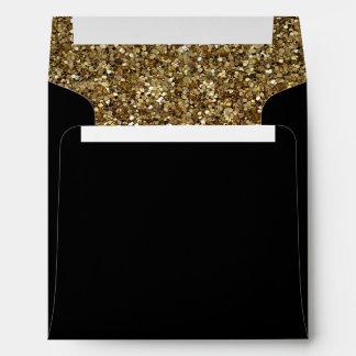 black with Gold glitter pattern Envelope