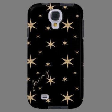 Black with Golden Stars Samsung Galaxy S4