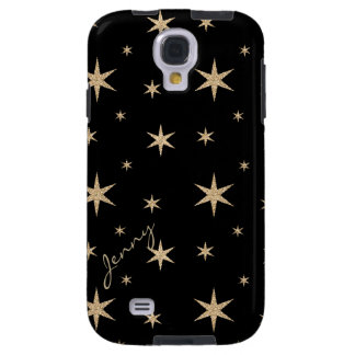 Black with Golden Stars Samsung Galaxy S4 Galaxy S4 Case