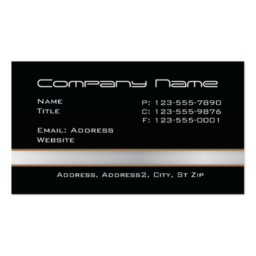 Black with gray band Business Cards