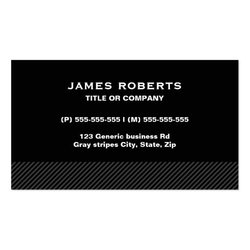Generic business card templates page7 bizcardstudio black with gray stripes modern simple masculine business card templates accmission Choice Image