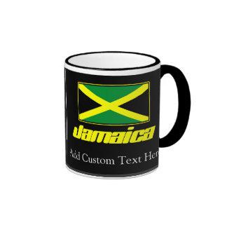 Black with Jamaica Flag Coffee Mugs