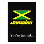 Black with Jamaica Flag Personalized Invites
