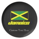 Black with Jamaica Flag Plate