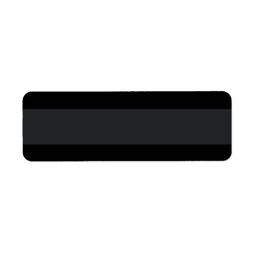 Black with lighter band plain blank custom return address label