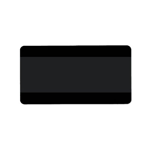 Black with lighter band plain blank custom address labels
