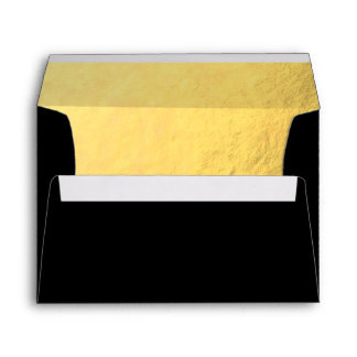 Black with Luxury Gold Lined Envelope