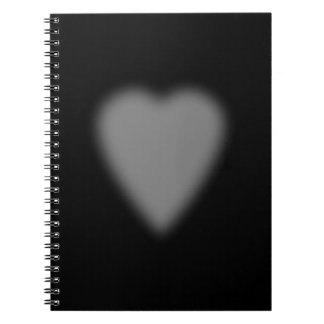 Black with Misty Heart Notebook