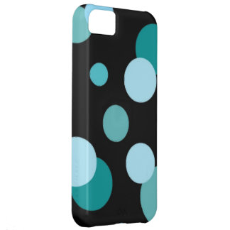 Black with Modern Dots iPhone 5C Cover