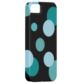 Black with Modern Dots iPhone SE/5/5s Case