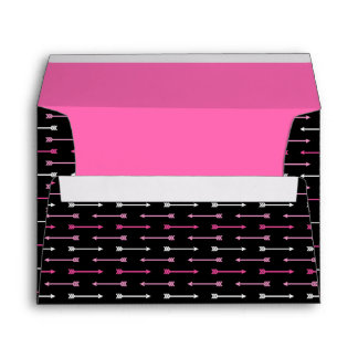 Black with Pink Arrows - Envelope