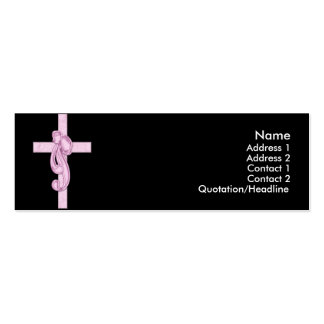 Black with Pink Cross & Bow Profile Cards Business Card