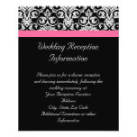 Black with Pink Passion Damask Flyer