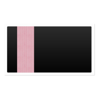 Black with Pink Pattern Business Card Template