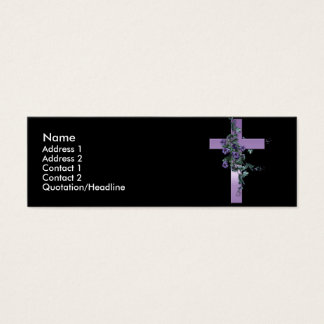 Black with Purple Cross and Flowers Profile Card