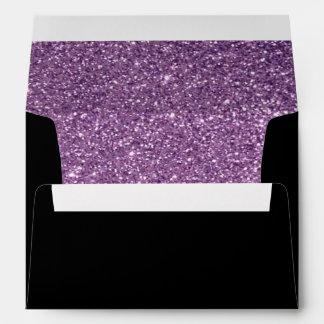 black with purple glitter pattern Envelope