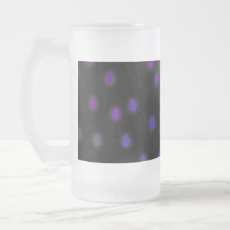 Black with rainbow color rain drops. frosted glass beer mug