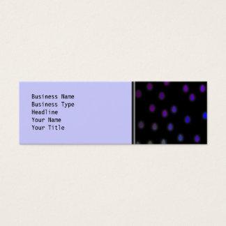 Black with rainbow color rain drops. mini business card