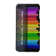 Black with Rainbow Equalizer Custom iPod Touch