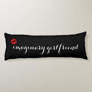 Black with Red Kiss Lips Imaginary Girlfriend Body Pillow