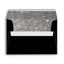 black with silver glitter pattern Envelope