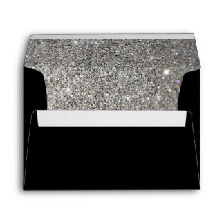 black with silver glitter pattern Envelope