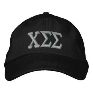 Black with Silver Letters Embroidered Baseball Cap