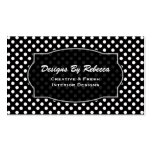 Black with White Polka-dot Business Cards