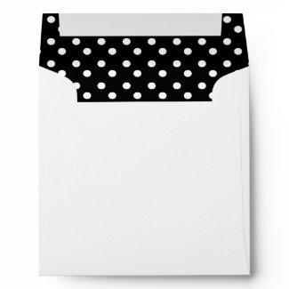 Black With White Polka Dot envelope