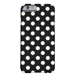 Black With White Polka Dot iPhone 6 case