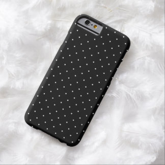 Black with White Polka Dots   Apple iPhone 6 Case