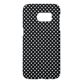 Black with white polka dots samsung galaxy s7 case