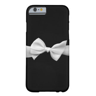Black with white ribbon bow iPhone 6 case (graphic