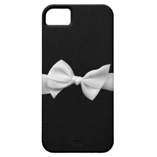 Black with white ribbon bow iphone case (graphic)