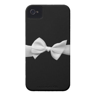 Black with white ribbon iPhone 4 cover