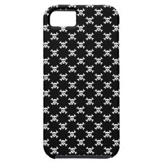 Black with White Skull and Crossbones Polka Dot iPhone SE/5/5s Case