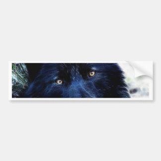 Black Wolf Bumper Sticker