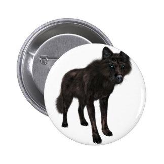 Black Wolf Button