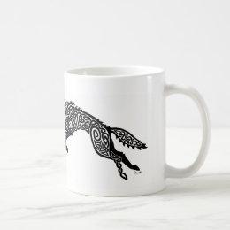 Black Wolf Knotwork Mug