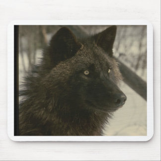 Black Wolf Mouse Pad