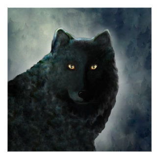 Black Wolf Poster