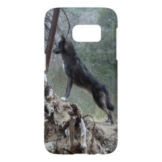 Black Wolf Samsung 7 Case