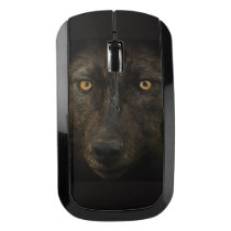 Black Wolf Wildlife Wireless Mouse