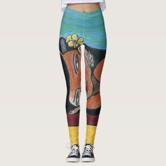 Black Woman Leggings