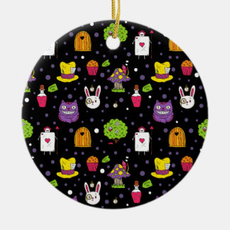 black Wonderland Ceramic Ornament