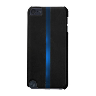 Black Wood Appearance Thin Blue Line iPod Touch (5th Generation) Cover
