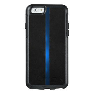 Black Wood Appearance Thin Blue Line OtterBox iPhone 6/6s Case
