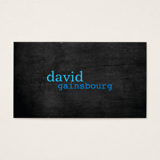 Black Wood Blue Typography Business Card