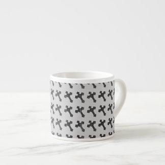 Black Wood Crosses on White Design Espresso Cup