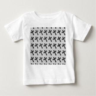 Black Wood Crosses on White Design T-shirt